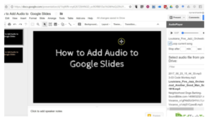 How to add audio to google slides?