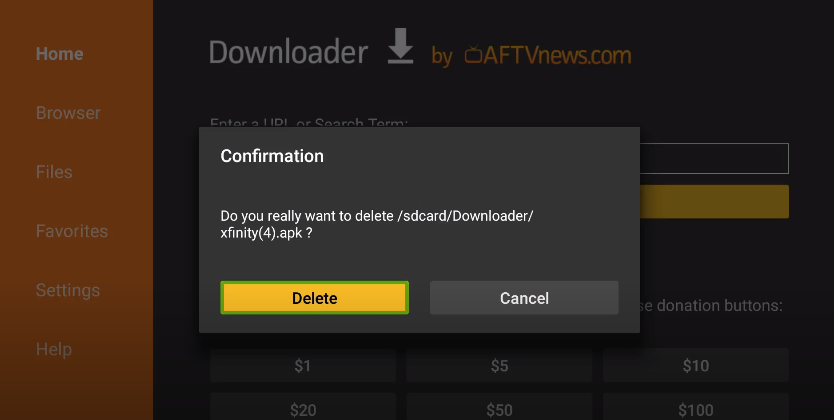 How to download Xfinity from the Downloader app?